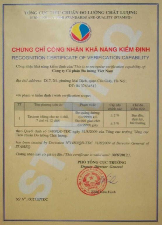Công Ty Cổ Phần Đo Lường Việt Nam